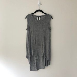 BCBGeneration Grey High Low Muscle Tank Top Grey S